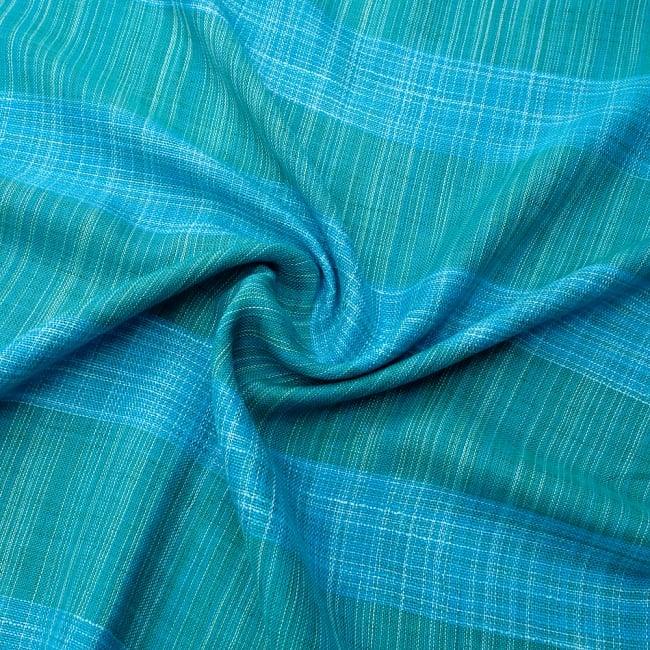 カラフルストライプスカーフ- - 青緑系 5 - ファッション用だけではなくインテリアファブリックとしても