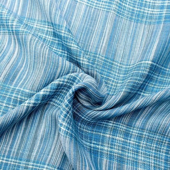 カラフルストライプスカーフ- - 水色系 5 - ファッション用だけではなくインテリアファブリックとしても