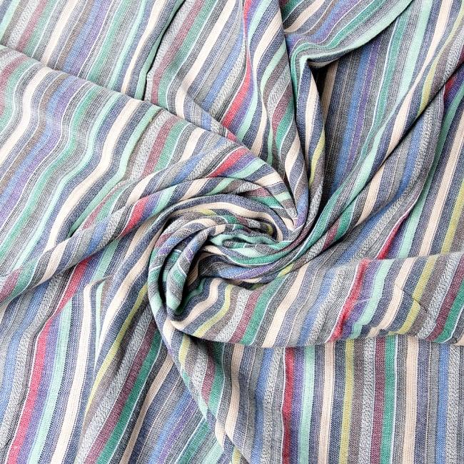 オールストライプストールカラフル系〔175cm×96cm〕 6 - 色彩のインドらしく、綺麗な布です