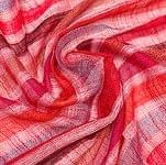 カラフルストライプスカーフ - オレンジ赤系