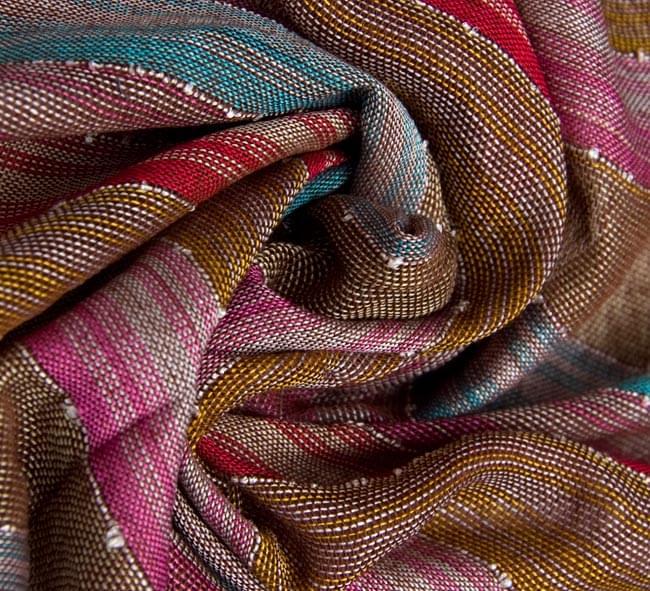 カラフルストライプスカーフの写真