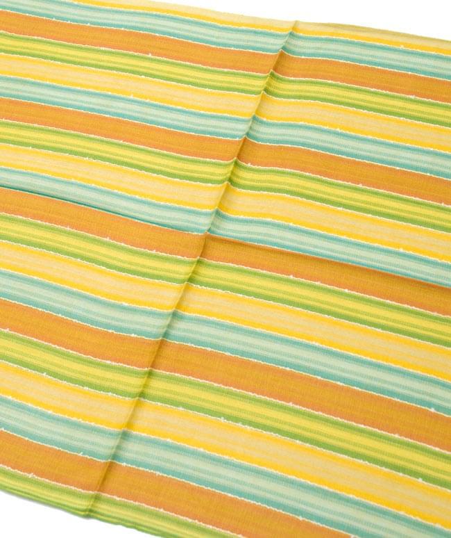 カラフルストライプスカーフ - 黄緑系 2 - 鮮やかなストライプ模様です