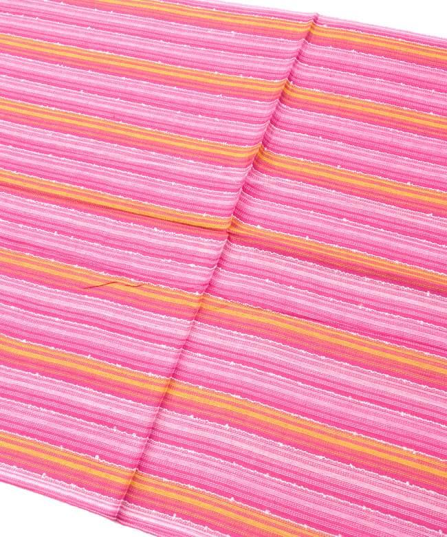 カラフルストライプスカーフ - 黄ピンク系 2 - 鮮やかなストライプ模様です
