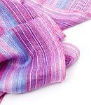 カラフルストライプスカーフ - 薄紫系