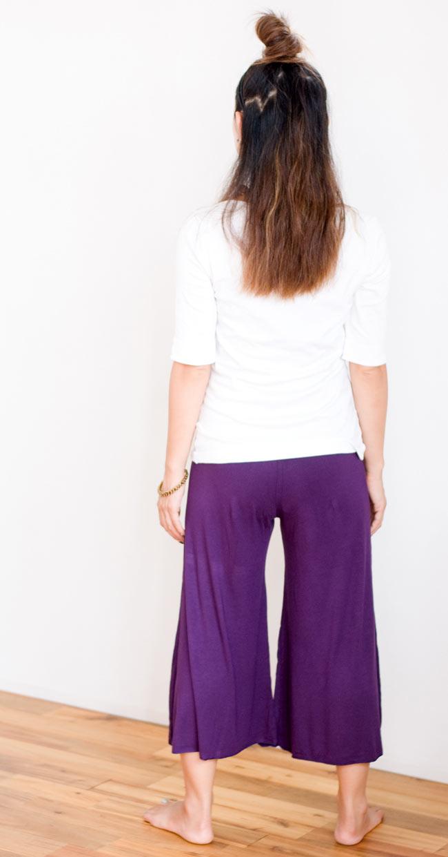 ロータスガウチョパンツ - 紫 4 - 後ろ姿です。