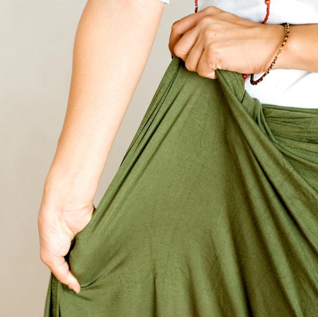 ロータスガウチョパンツ - 紫 7 - ストレッチがとても履きやすいですよ!