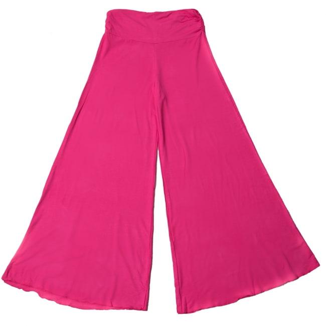 病みつきの履き心地!ロング ガウチョ パンツ 14 - 選択5:ピンク