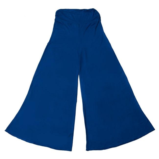 病みつきの履き心地!ロング ガウチョ パンツ 15 - 選択6:ブルー