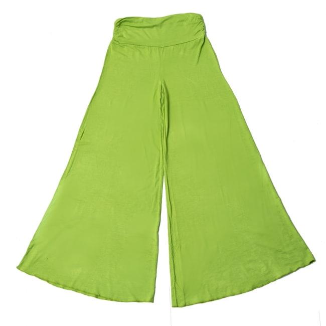 病みつきの履き心地!ロング ガウチョ パンツ 16 - 選択7:ライトグリーン