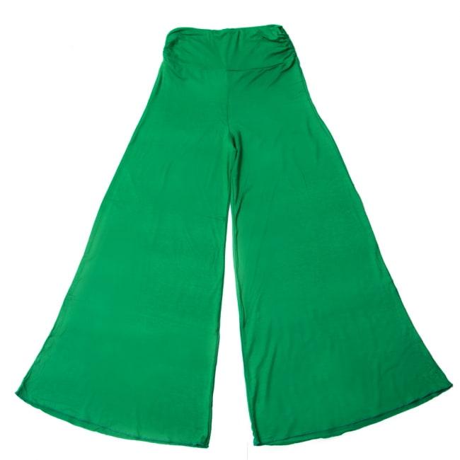 病みつきの履き心地!ロング ガウチョ パンツ 18 - 選択9:グリーン