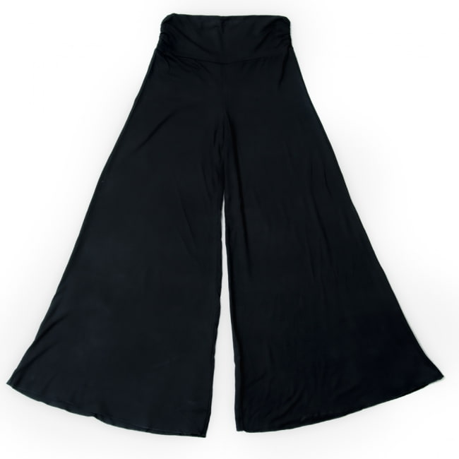 病みつきの履き心地!ロング ガウチョ パンツ 19 - 選択10:ブラック