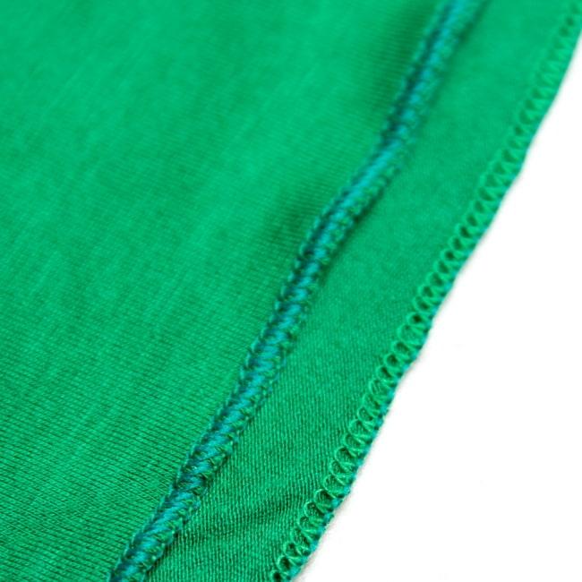 病みつきの履き心地!ロング ガウチョ パンツ 7 - 裾はこのように縫われています。折返しではないので、スッキリした印象です。
