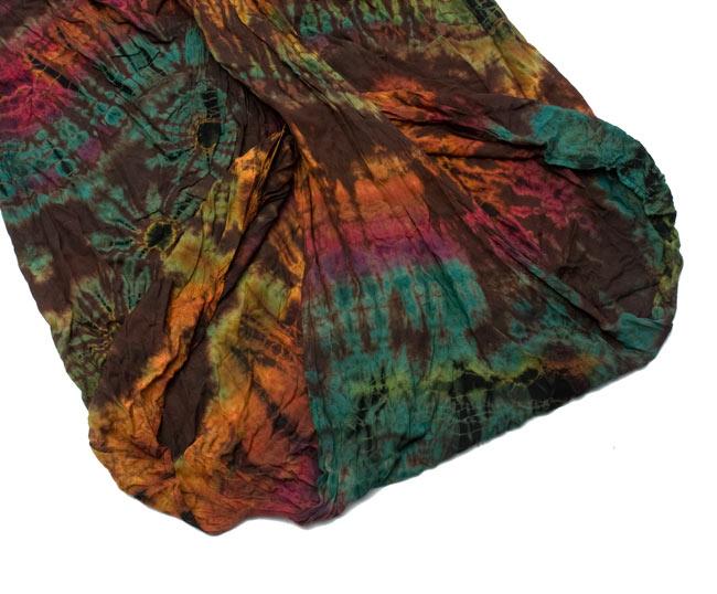タイダイレーヨンダンサーパンツ 【水色】の写真7 - パンツの裾部分をアップにしてみました。