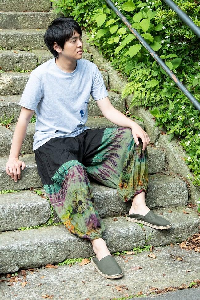 タイダイレーヨンアラジンパンツ 13 - 男性モデルさんの着用例です。