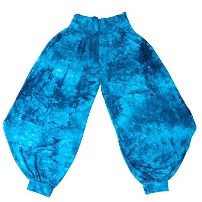 タイダイレーヨンアラジンパンツ 11 - 選択3:ブルー