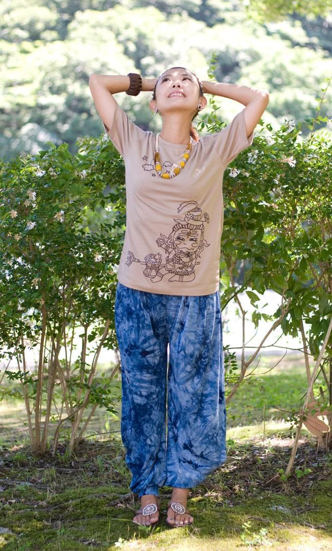 タイダイレーヨンアラジンパンツの写真