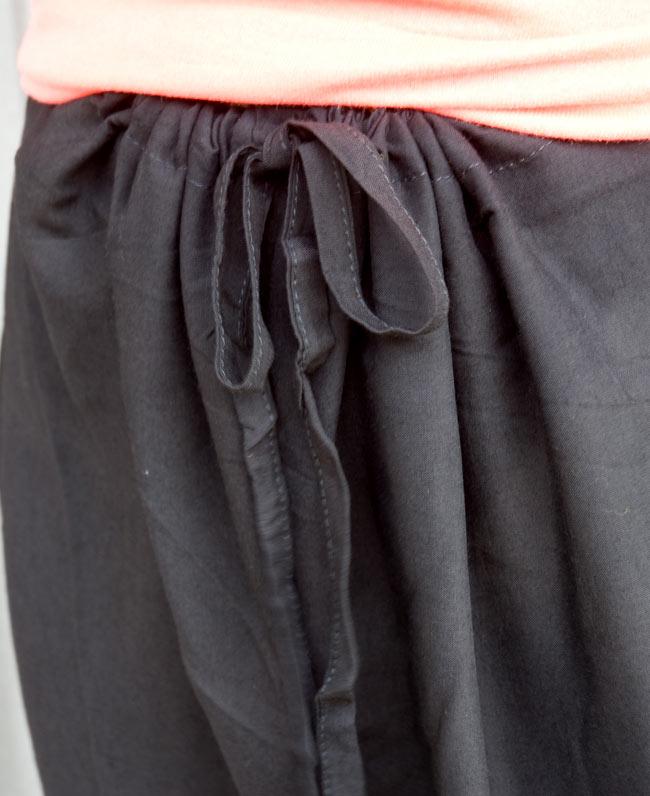 シンプル無地のリラックスパンツ 【れんが】 6 - ウエスト部分はゴムと紐なのでとても快適です。