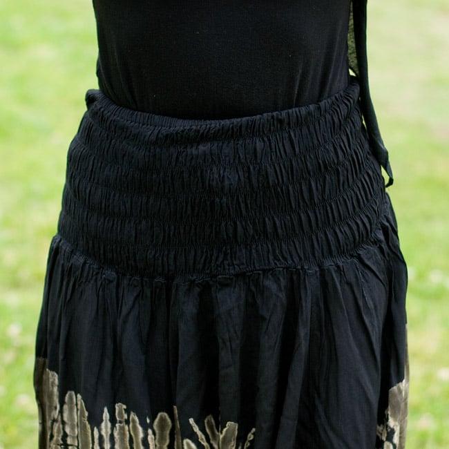 タイダイレーヨンサルエルパンツの写真5 - ウエストはゴムと紐でとってもラクチン♪
