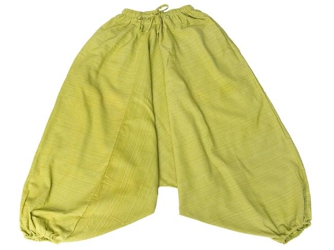 ストライプ織りのコットンモモンガパンツ 11 - 選択4:ライトグリーン