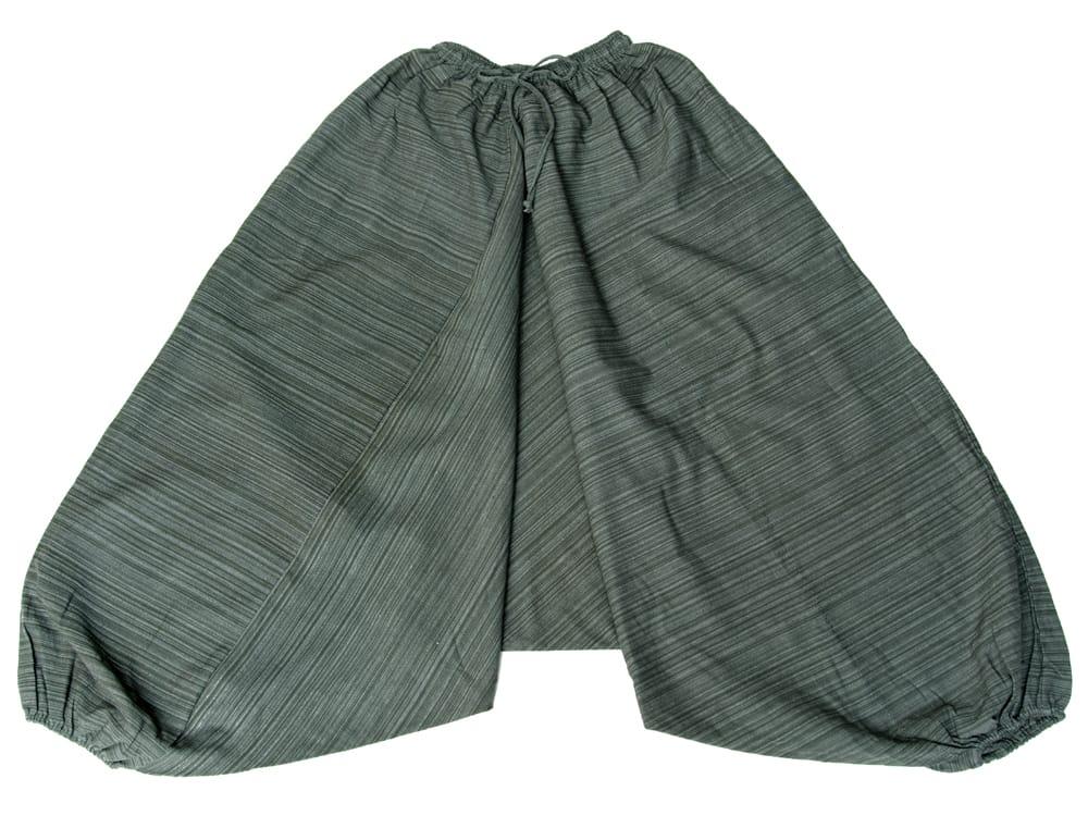ストライプ織りのコットンモモンガパンツ 14 - 選択7:グレー