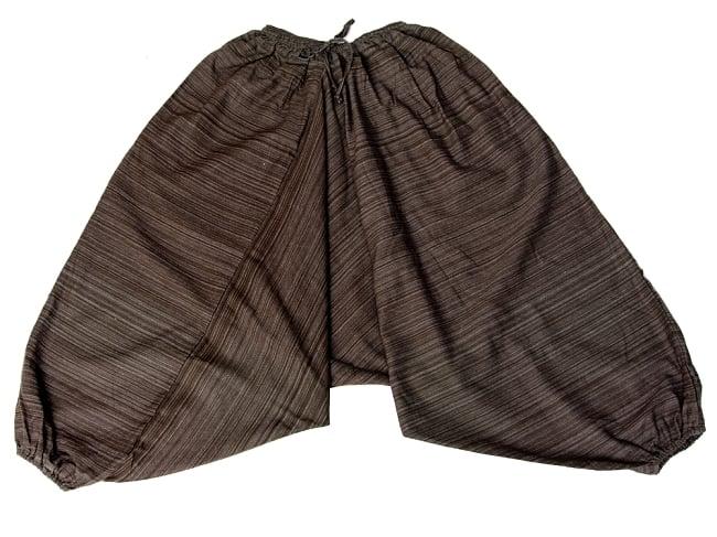 ストライプ織りのコットンモモンガパンツ 17 - 選択10:ブラウン