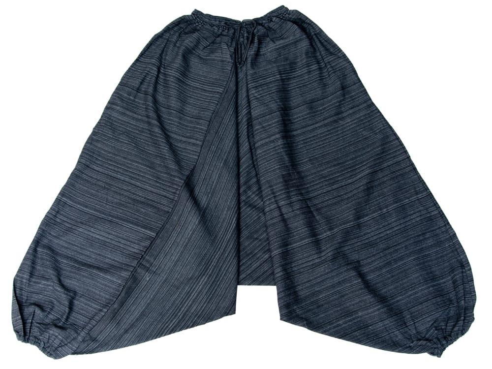 ストライプ織りのコットンモモンガパンツ 18 - 選択11:ブラック