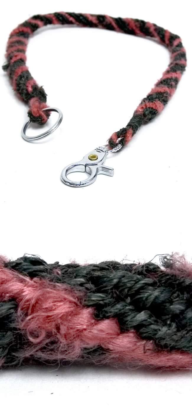 ヘンプ・シルク編みウォレットチェーンの写真1