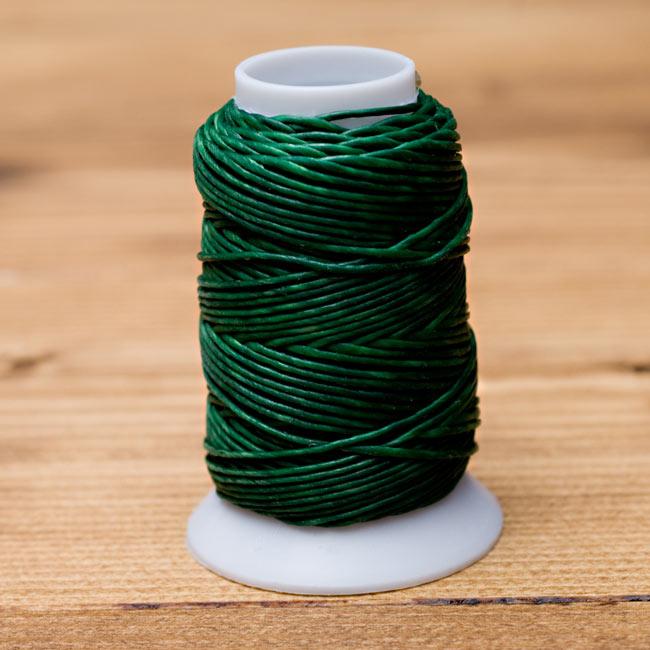 ワックスコード - 蝋引き紐 - 30g - 緑の写真1