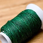 ワックスコード - 蝋引き紐 - 30g - 緑