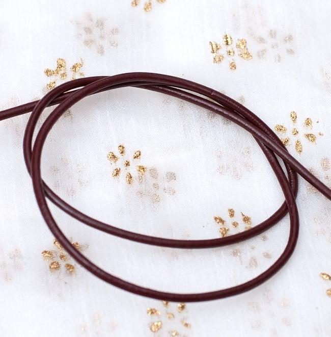 牛革紐 切り売り - 太さ:2mm [茶色]の写真2 - ロールにしてみたところです
