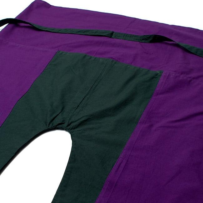 バイカラーのコットンタイパンツ-ショート - 【パープル・カーキ】の写真2 - しっかりした縫製なのでとても丈夫です。
