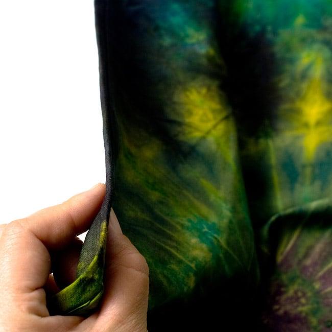 タイダイコットンタイパンツ 【ロング】 グリーン×パープル系の写真4 - 厚みはこのくらいです。