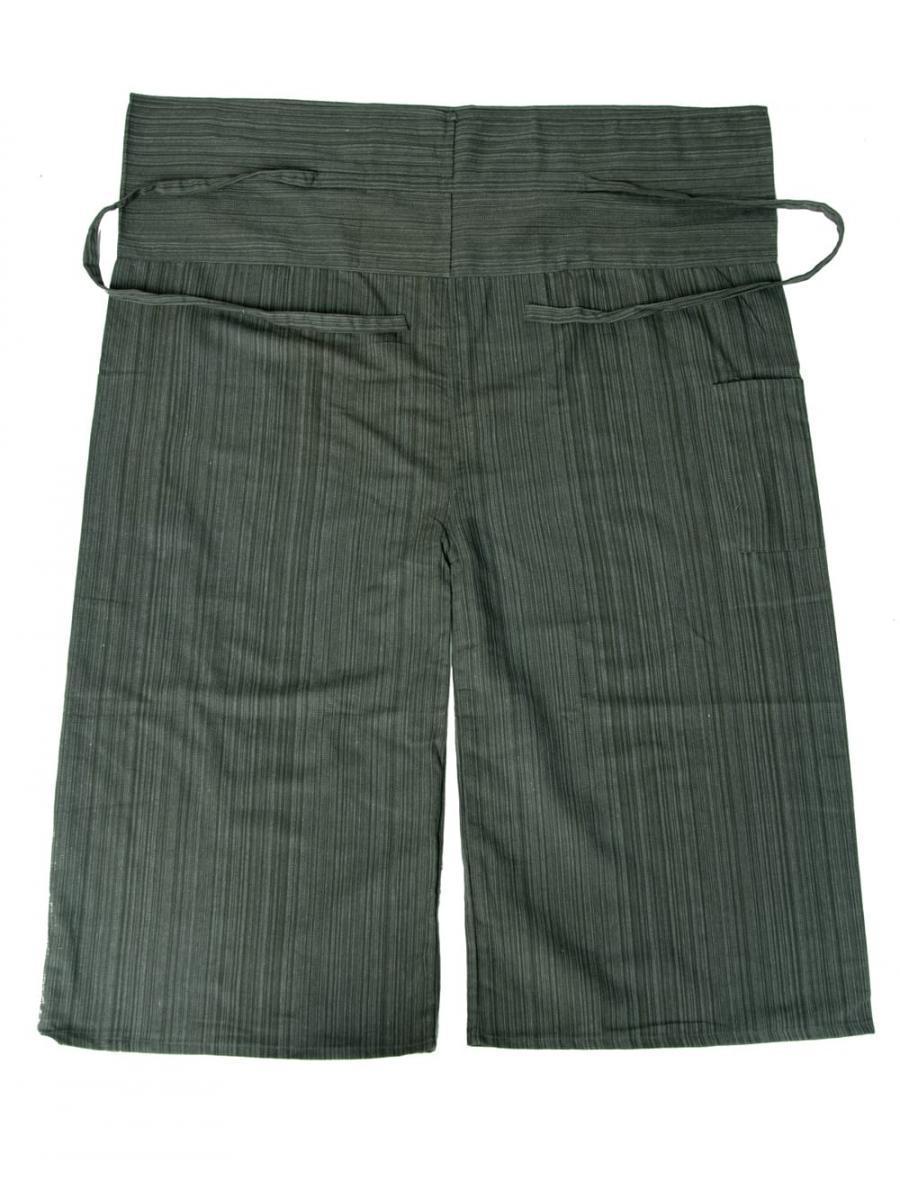 ストライプ織りのコットンタイパンツ 11 - 選択3:グレー