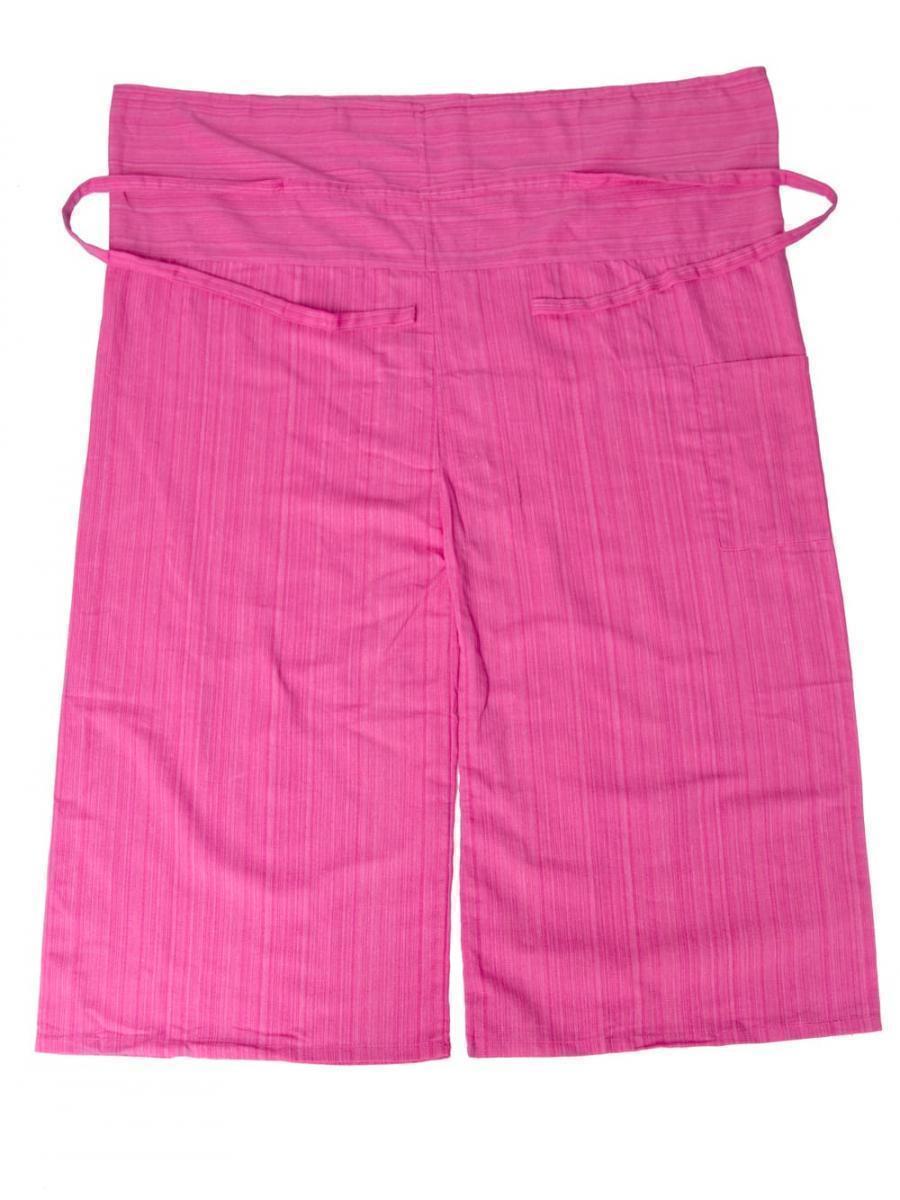 ストライプ織りのコットンタイパンツ 12 - 選択4:ピンク