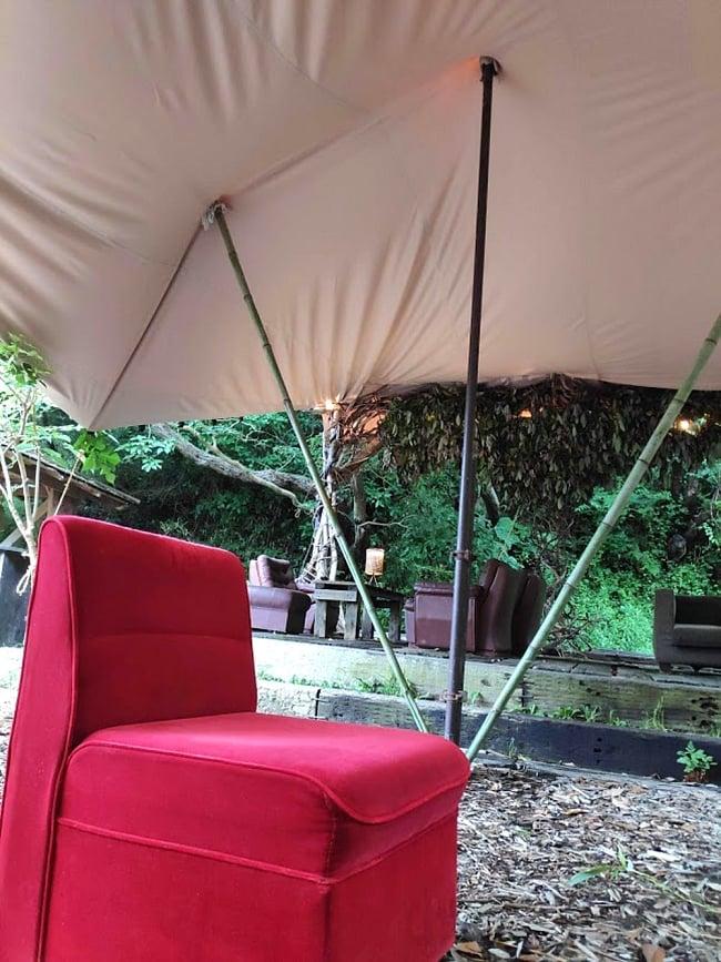 ストレッチテント 野外フェス イベント タープ【8m x 6m】【納期45日】 8 - 雨のイベントでも大丈夫な素敵な居住空間ができますよ