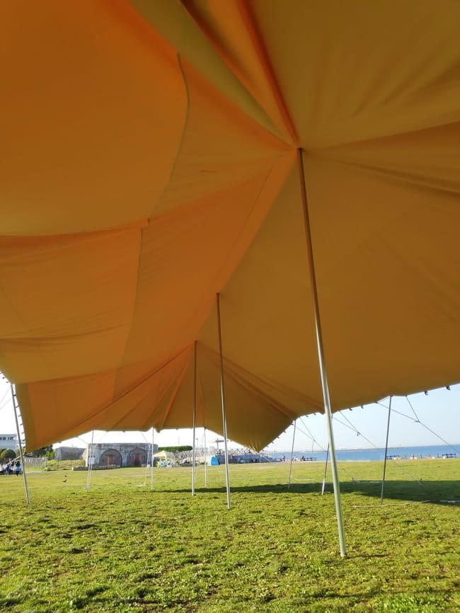 ストレッチテント 野外フェス イベント タープ【15m x 8m】【納期45日】 3 - 別のアングルから。。こちらは10m x 10mのテントの画像になります