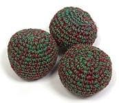 緑赤系ジャグリングボウル(3個セ
