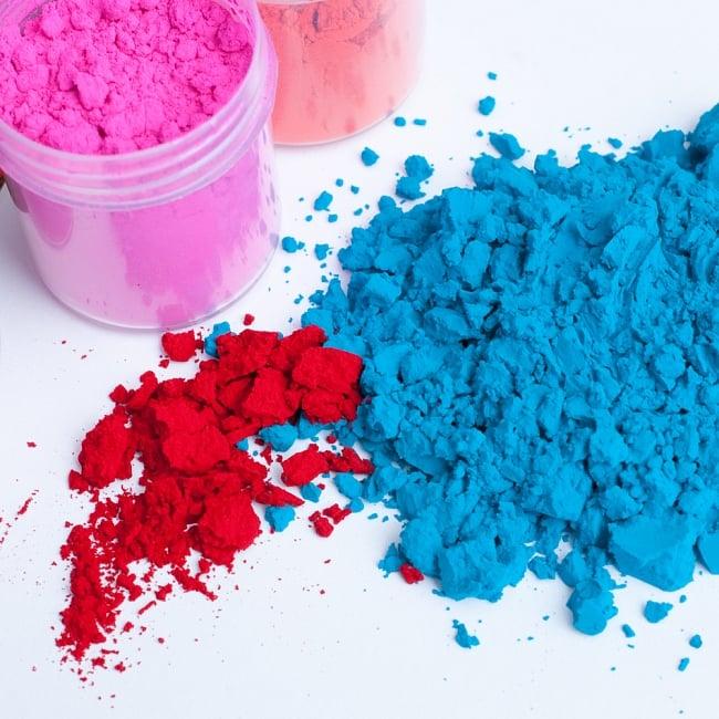 ホーリーの色粉15色セット[ボトル入り各 約20g] 3 - ビビッドで綺麗な色粉です