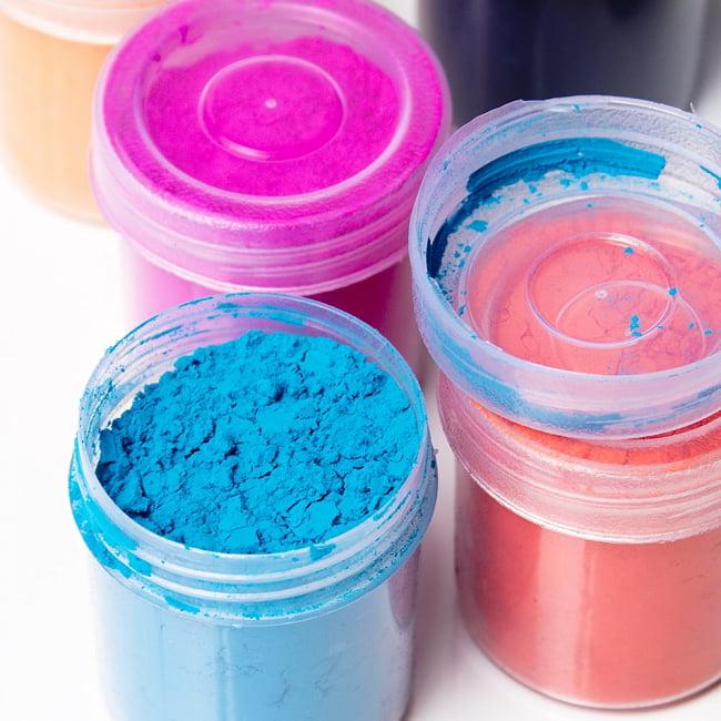 ホーリーの色粉 100gパック - ブルーパープル 5 - インドではこの様にして売られています