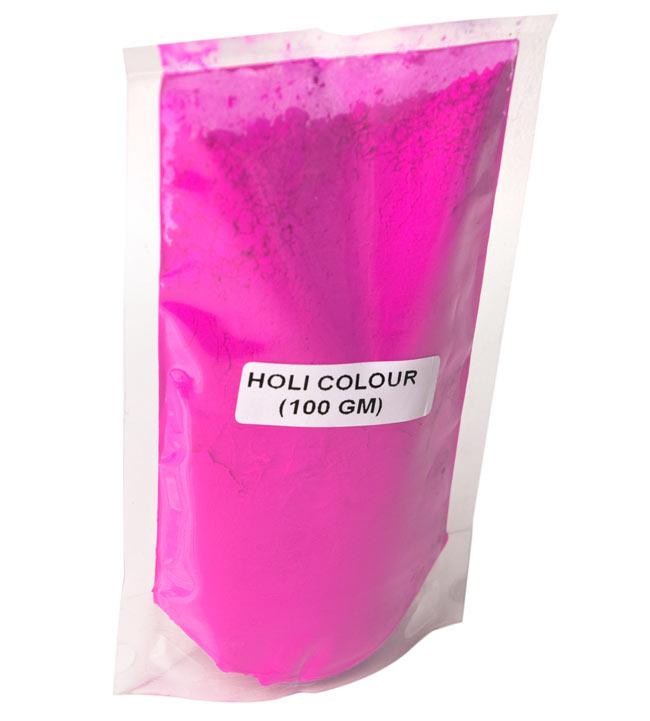 ホーリーの色粉 お買い得10パックセット【合計1Kg】の写真2 - 一つ一つはこのようになっています(ラベルがない場合がございます)