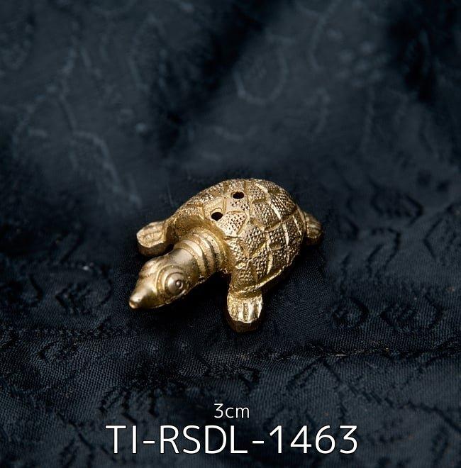 【選べる6個セット】インドのミニミニ神様像[3cm] 2 - 幸運のカメ - ミニミニ神様像[3cm](TI-RSDL-1463)の写真です