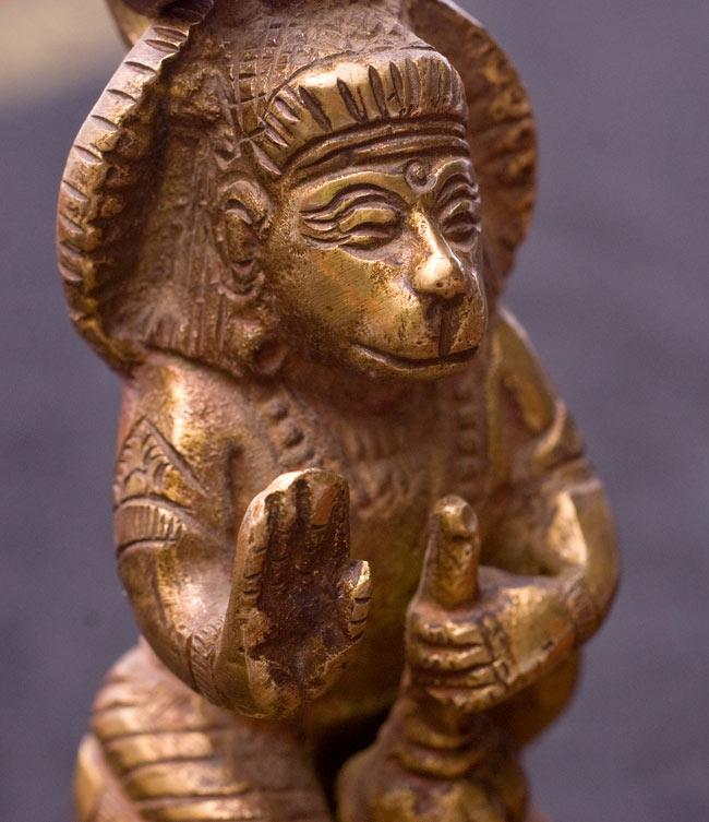 寺院の鐘 - ハヌマーン【一点もの】の写真2 - 持ち手にはハヌマーン象られています。
