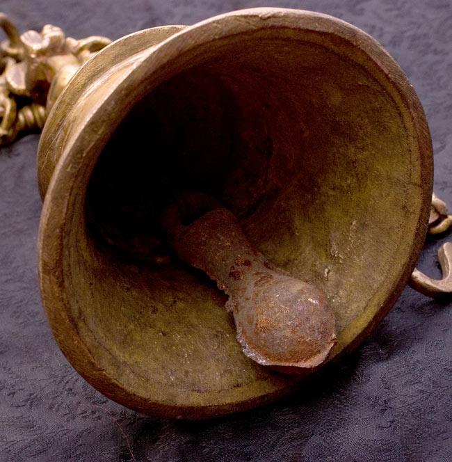 寺院の鐘 - ハヌマーン【一点もの】の写真5 - 鐘の中を撮影しました。