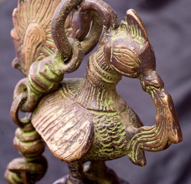 寺院の鐘 - 孔雀【一点もの】の写真3 - 別角度の孔雀です。
