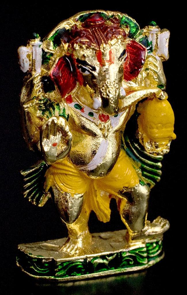 エナメル細工の金色ガネーシャ像(5cm)の写真