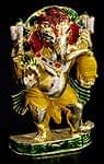 エナメル細工の金色ガネーシャ像