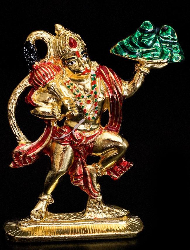 エナメル細工の金色ハヌマーン像(10cm)の写真