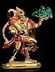 エナメル細工の金色ハヌマーン像(10cm)
