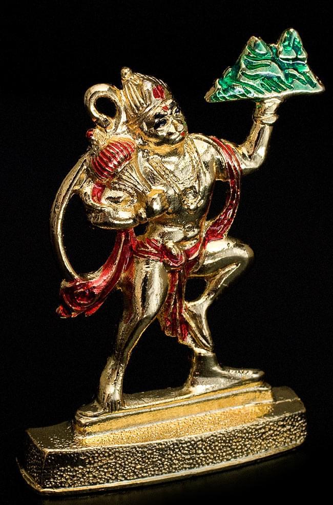 エナメル細工の金色ハヌマーン像(8cm)の写真