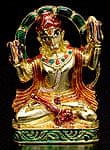 エナメル細工の金色ハヌマーン像